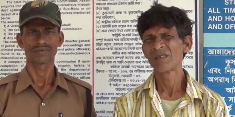 Tripura Police on Saturday arrested a Bangladeshi national while he was trying to sneak into India through Karimganj district of Assam. Photo: Panna Ghosh