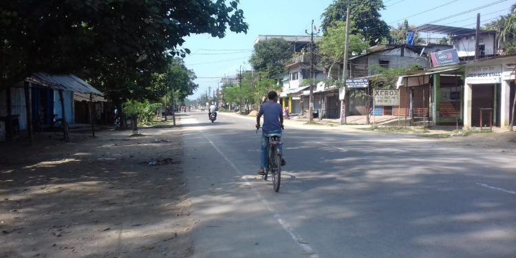 Assam bandh total and peaceful in Dhemaji district