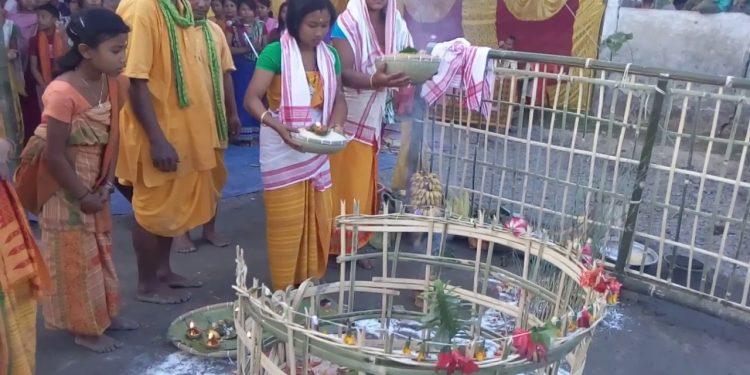 Garja and Bathou puja