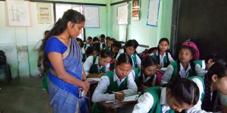 Dibrugarh deputy commissioner Laya Madduri visited Dibrugarh Govt Girls' HS & MP School