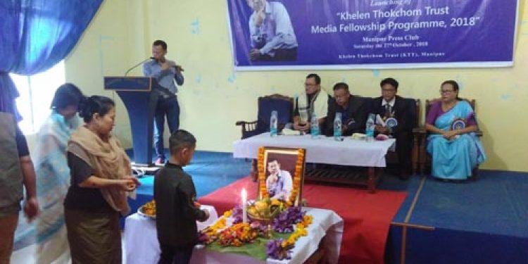 Khelen Thokchom remembered in Imphal