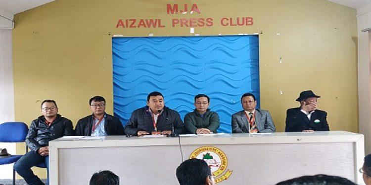 The Mizoram PCC media department addressing media at Aizawl on Wednesday Photo: S Hmar.