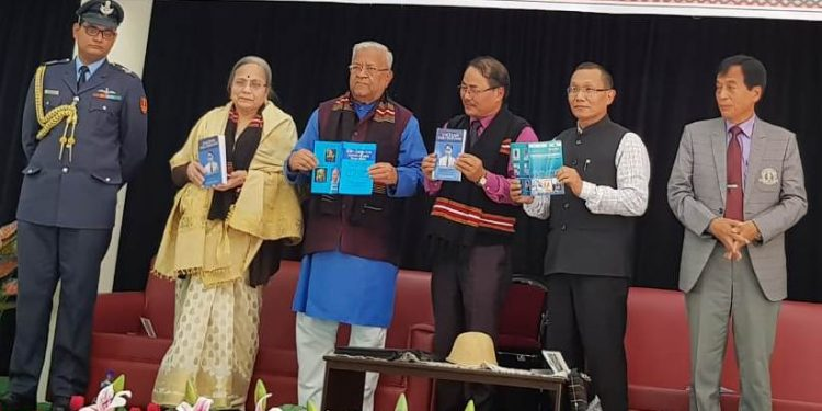 Nagaland Governor P.B. Acharya releasing the books in Government Saitual College in Mizoram on Thursday.