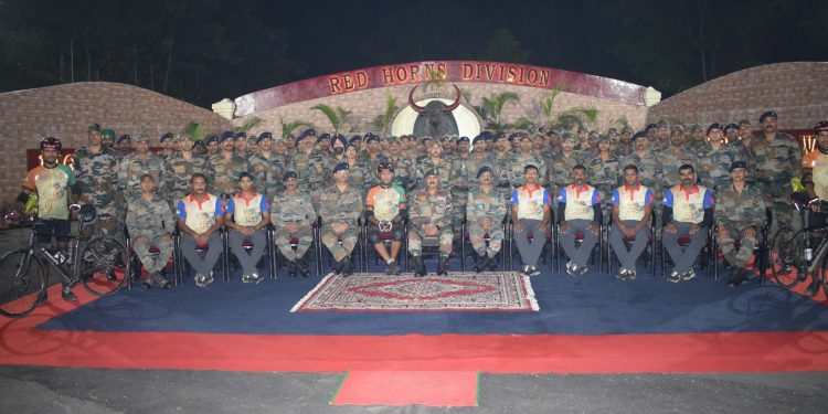 INDIAN ARMY CYCLING TOWARDS GUINNESS WORLD RECORD