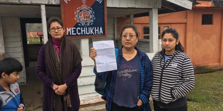 Complainant  Sujata Gurung Chowdhury at Mechuka Police Station.