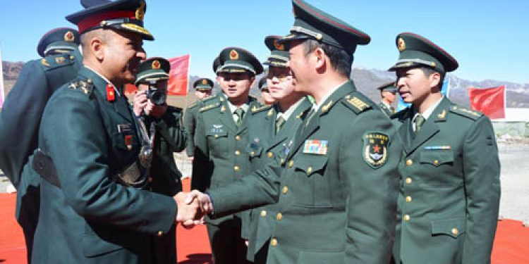 Border personnel meeting conducted at Indo – china border