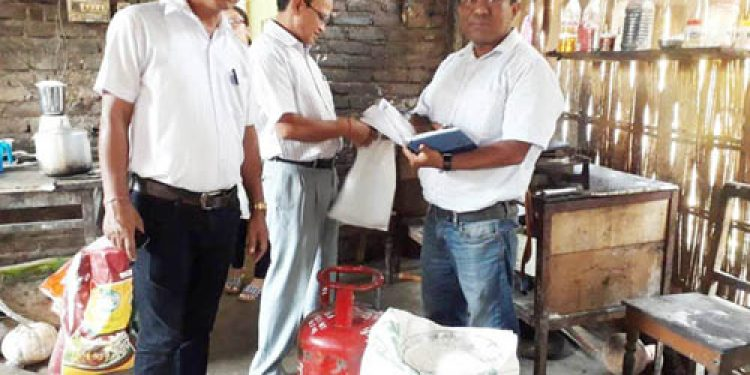 Joint team conducts checking in Dhemaji hotels, seized LPG cylinders, liquor bottles