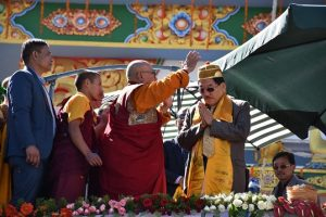 Sikkim CM Chamling unveils Chenrezig Shingkham Riwo Potala 1