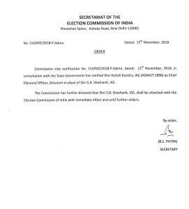 EC appoints new Mizoram CEO