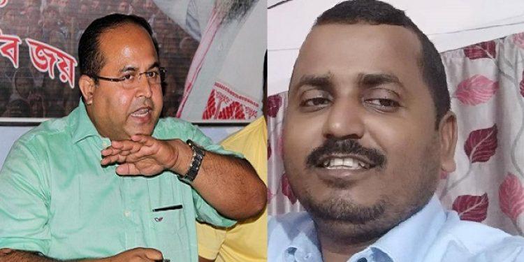 AIUDF GS Aminul Islam (left) and AAMSU advisor Azizur Rahman . Photo: Northeast Now