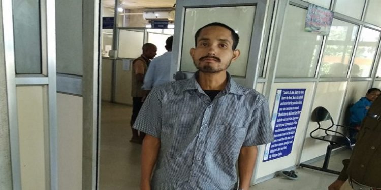 Bharalu police arrest one Pranob Borah on charge of posting objectionable comments on social media regarding Citizenship (Amendment) Bill, 2016 on Wednesday. Photo: Northeast Now