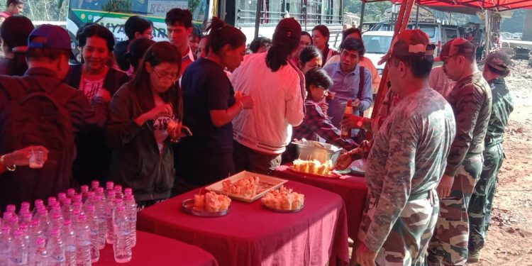 Assam Rifles greets Myanmarese Nationals