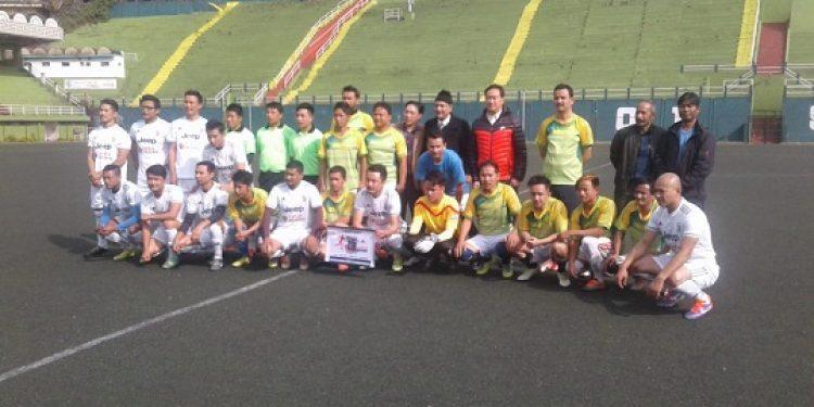The 6th edition of Inter-Departmental Football Tournament 2018 kicked off at Paljor Stadium in Gangtok on Tuesday. Photo: Sagar Chhetri