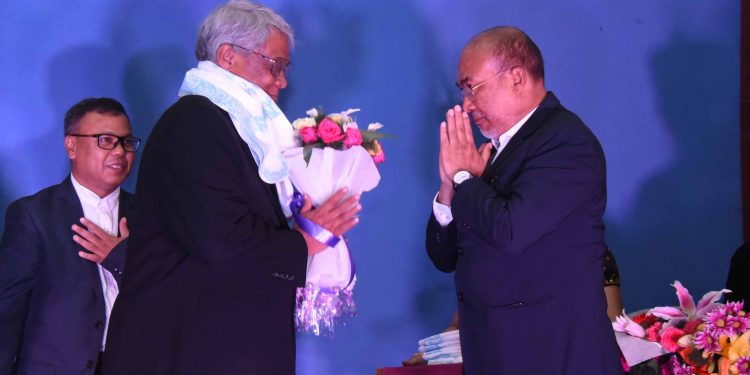 Manipur CM N Birena and Sagaing Chief Minister Dr Myint