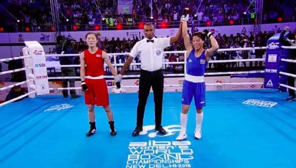 Mary Kom remains on course for sixth title, Lovlina Borgohain loses