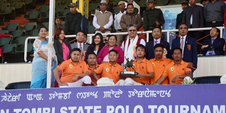 X Polo Club Wangkhei in Imphal East district emerges as champion in the 34th N Hazari & Dr N Tombi State Polo Tournament in Imphal on Sunday. Photo: DIPR, Manipur