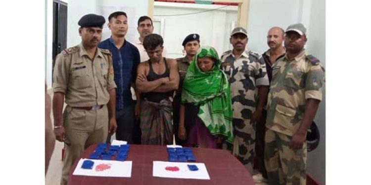 BSF apprehends husband-wife duo with Yaba tablets in Tripura 1