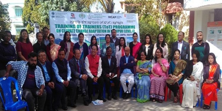 A three-day training programme on climate change adaptation for trainers was inaugurated at the Institute of Cooperative Management (ICM) premises at Lamphelpat in Imphal on Wednesday. Photo: Sobhapati Samom