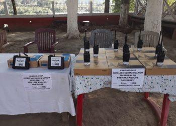 wireless equipments to Pobitora Wildlife Sanctuary staff