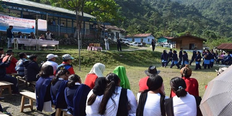 The dwellers of East Kameng district in Arunachal Pradesh  observing World Toilet Day on Monday. Photo: Damien Lepcha