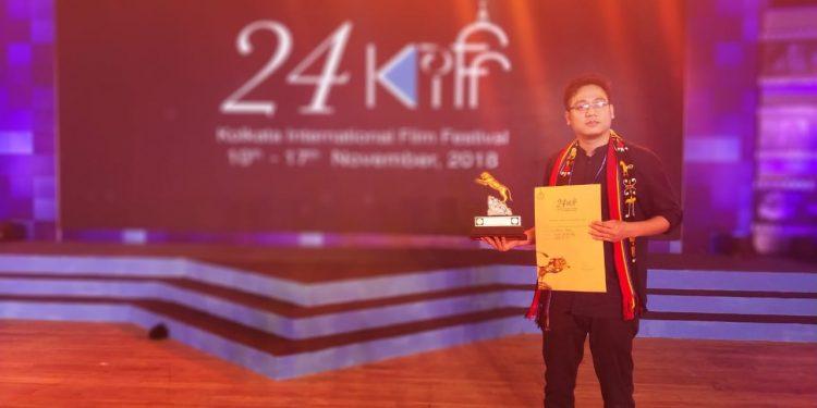 Young director Ashok Veilou from Purul village won award in Kolkata film fest