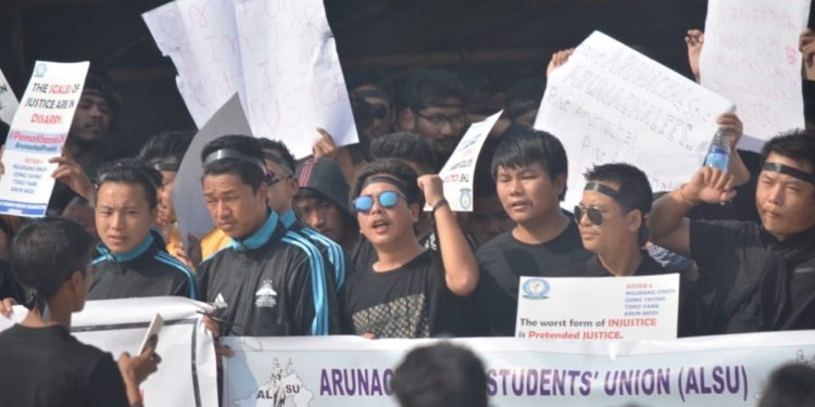 arunachal protest