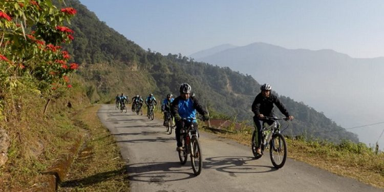 Indo-Bhutam Army joint cycling cum trekking expedition concludes at Binnaguri on November 19.  Photo: Northeast Now