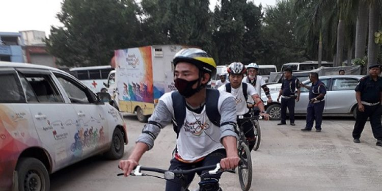 File photo of cyclothon team: Northeast Now