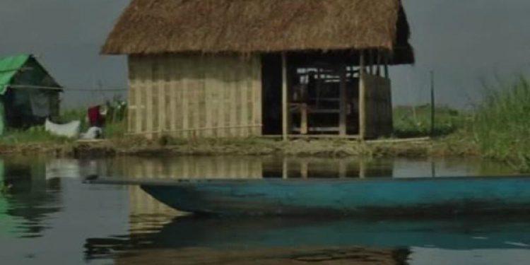 The Water handloom hut in Loktak lake