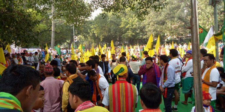 ABSU stages dharna at Jantar Mantar in Delhi demanding separate Bodoland