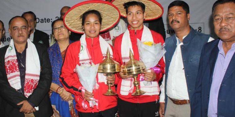 Assam boxers Lovlina and Bhagyabati felicitated in Guwahati