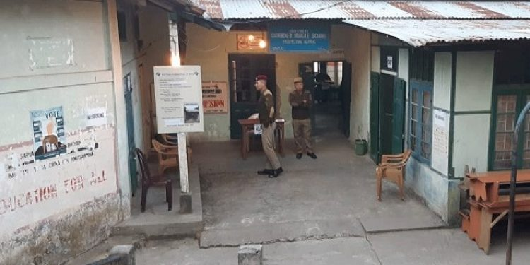 polling station in aizawl