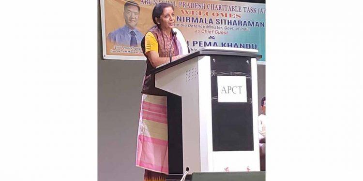 Defence Minister Nirmala Sitharaman speaks in arunachal Photo: Twitter