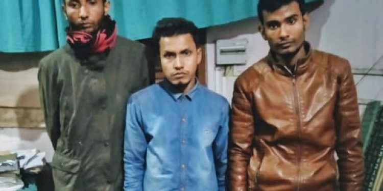 Trio held on extortion charges at Orang
