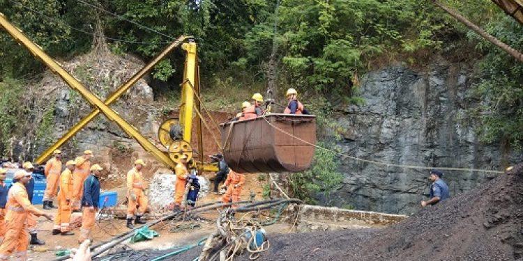 Coal mine site in Meghalaya