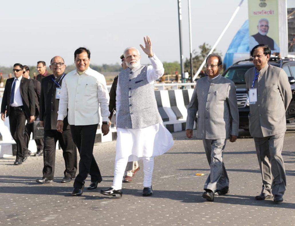 PM Narendra Modi inaugurates 4.94 km Bogibeel Bridge amid cheers of thousands 4