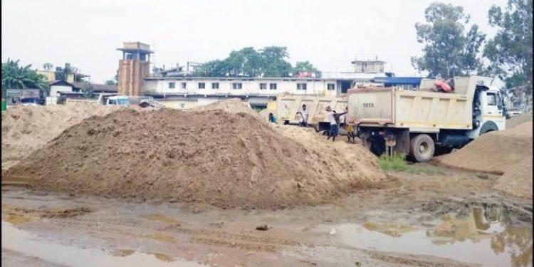 A sand depot in Dimapur