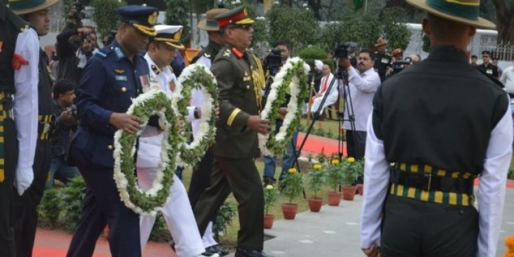 Martyrs of 1971 war honoured at an event in Kolkata.