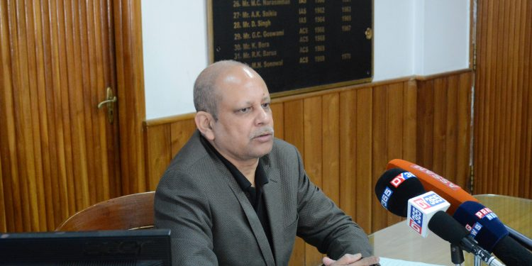 Returning Officer and Deputy Commissioner of Dima Hasao , Amitabh Rajkhowa announces the schedule for NCHADC election  on Saturday in Haflong. Photo credit:  Northeast Now.