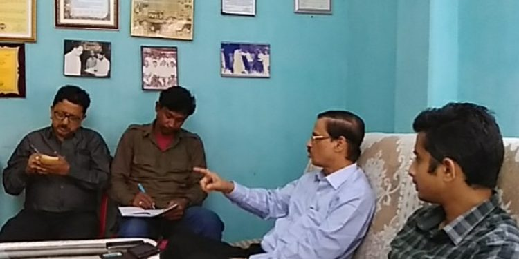 Founder President of ACKHSA Pradip Dutta Roy addressing the media at his residence on Monday