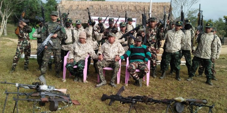 KLO leaders and armed cadres. Image: E-mailed by KLO