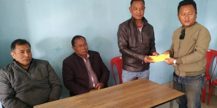 KTT Fellowship being presented to one of the two selected Imphal-based journalists. Image: Northeast Now