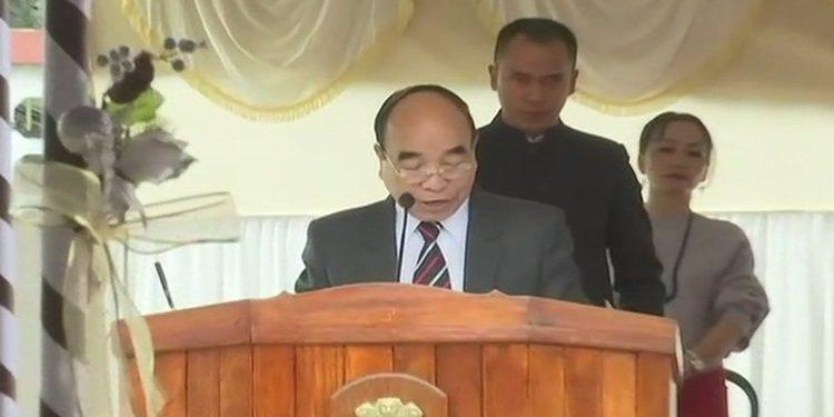 MNF Cheif Zoramthanga takes oath as Mizoram CM in Aizawl on Saturday.