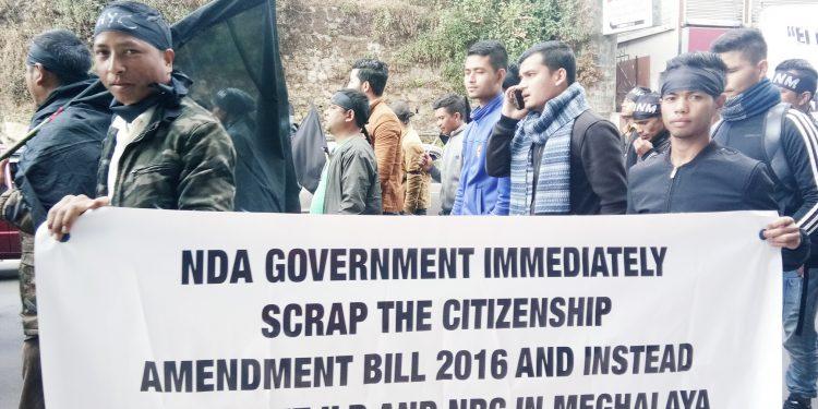 Citizenshil Bill protest in Meghalaya