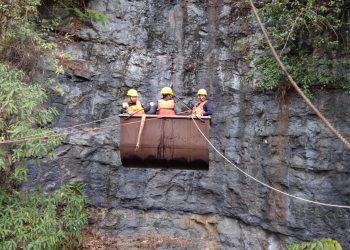 Rescue operation in coal mine