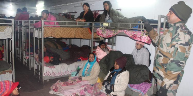 The stranded tourists rescued by Army on Friday.