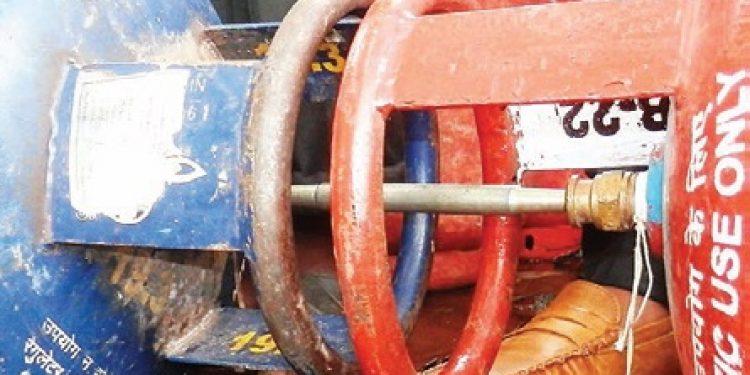 pilferage of LPG cylinder