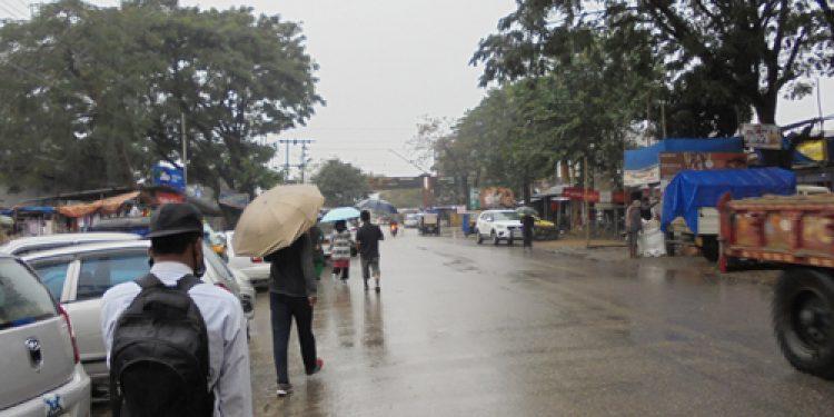 A scene of Jonai-Ruksin at Assam-Arunachal boundary on Tuesday afternoon