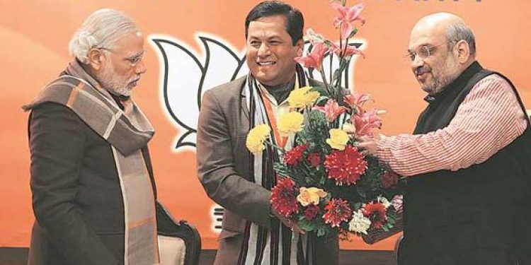 Sonowal, Modi, Shah