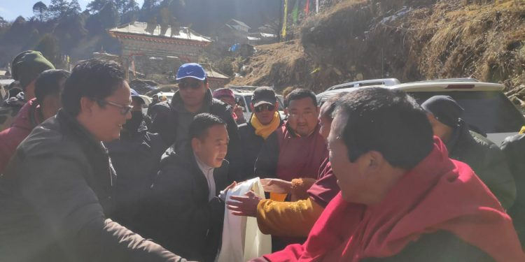 SKM president visits Lachen to attend Ningyma Chamm festivities